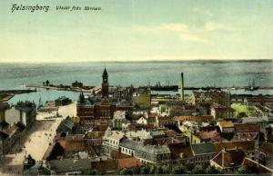 sweden, HELSINGBORG, Utsikt fran Kärnan (1910s)