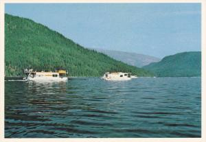 Houseboats, SHUSWAP LAKE, British Columbia, Canada, 50-70's