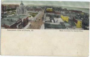D/B Panoramic View of Peoria Illinois IL 1915