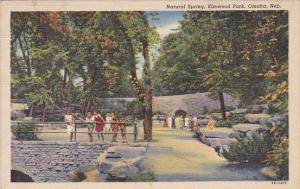 Nebracka Omaha Natural Spring Elmwood Park 1945
