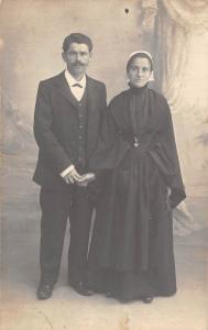 Vintage Elegant Suit, Dress, Couple, Postcard