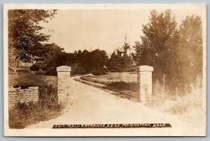 Manhattan~Kansas State Agricultural College~KSAC Main Entrance Gate~1909 RPPC