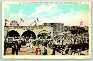 New York City Coney Island Amusement Park~Steeplechase~Limit Roller Coaster~1925