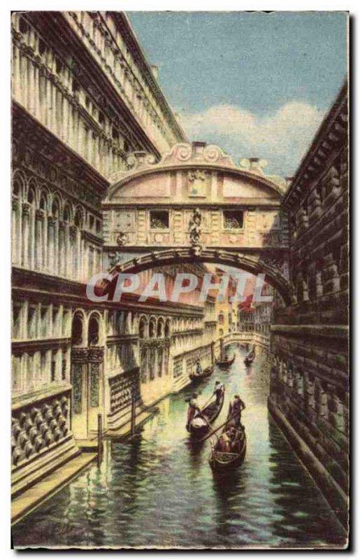 Old Postcard Italy Italia Venezia Ponte del Sospiri