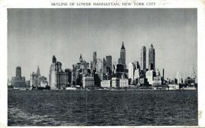 USA Skyline of Lower manhattan New York City 01.83