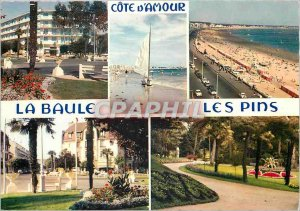 Modern Postcard La Baule les Pins Loire Atlantique The Avenues Beaches and Parks