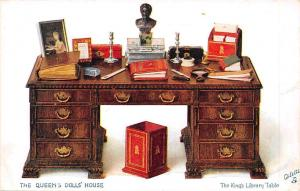 The Queen's Dolls' House, The King's Library Table, Oilette