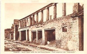 Italy Old Vintage Antique Post Card Pompei Nuovi scavi sulla Via dell'Ab...