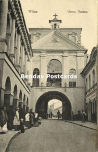 lithuania russia, VILNIUS WILNO WILNA, Ostra Brama (1917) WWI Feldpost