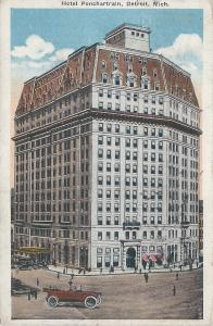Hotel Ponchartrain, Detroit, Michigan, Early Postcard, Used in 1917