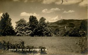 NH - Jaffrey. Bird's Eye View.   *RPPC