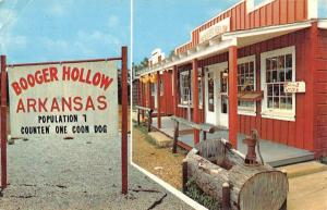Harrison Arkansas Booger Hollow Street View Vintage Postcard K90905