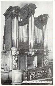 Churchtown Dublin Ireland~Pipe Organ Closeup~St Michan's Church~B&W Godson~1940s