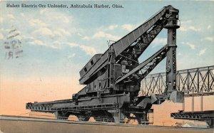 F59/ Ashtabula Harbor Ohio Postcard 1914 Hulett Electric Ore Unloader 9