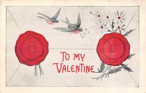 Old Valentines Day Post Card Unused