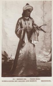 Moorish Girl Henrietta Browne Bournemouth Art Gallery Antique Postcard