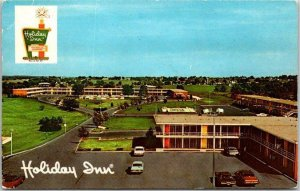 Springfield, Missouri ROUTE 66 Postcard HOLIDAY INN MOTEL Bird's-Eye View c1960s
