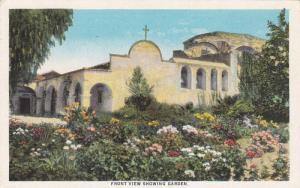 Front View Showing Garden, Mission San Juan Capistrano, Founded 1776, Califor...