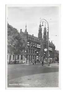 Netherlands RPPC Amsterdam Postkantoor Post Office Glossy BW Real Photo Postcard