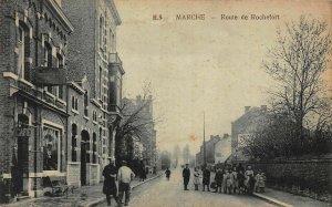 France Marche Route de Rochefort Street Cafe Postcard