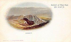 LP19   Pikes Peak  Colorado Summit Bottomless Pit Vintage Postcard PMC