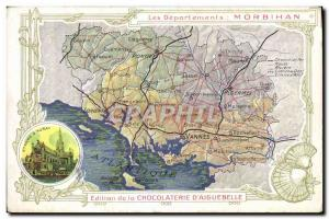 Postcard Old MAPS Chocolaterie d & # 39Aiguebelle Morbihan Ste Anne d & # 39A...