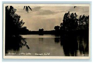 C.1910 RPPC Sunset Little Lake Hemet, CA Real Photo Photo Postcard F96
