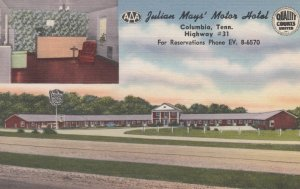 COLUMBIA, Julian May's Motor Hotel, Tennessee, 30-40s