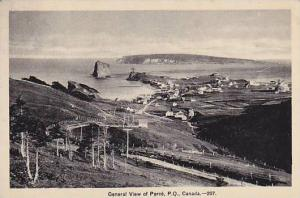 General View Of Perce, Quebec, Canada, PU-1935