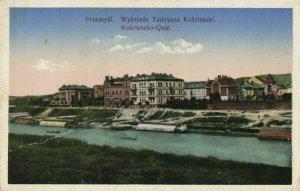 poland, PRZEMYŚL, Wybrzeże Tadeusza Kościuszki, Quai (1916) Postcard