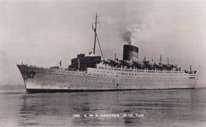 RMS Caronia Real Photo Old Postcard