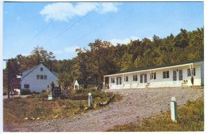 West Athens NY Idle Hour Motel Catskills Postcard