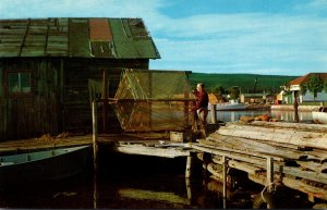 Wisconsin Commercial Fisherman Drying Nets