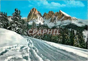 Postcard Modern Dolomiti (Seiser Stuai) 3178 m Sassolungo