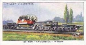 Wills Vintage Cigarette Card Railway Equipment 1938 No 33 120-Ton Crocodile W...