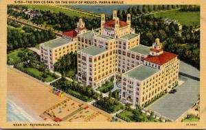 Florida Pass-A-Grille Beach Aerial View Don Cesar Hotel 1945 Curteich