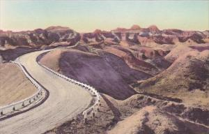 Dillon Pass The Badlands Nat Monument South Dakota Hand Colored Albertype