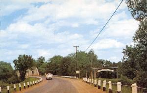 Farmington Maine~Rte 4 Bridge~Boosters Park Arch~Rangeley Lakes~1950s Postcard