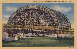 Construction Of Tabernacle Roof Salt Lake City Utah