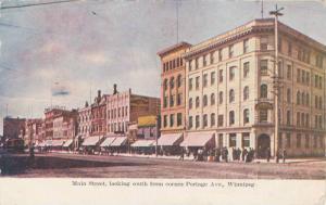 Main Street, looking South from Corner,Portage Avenue, Winnipeg, Canada,PU-00...