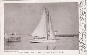 New Jersey Atlantic City Yacht Ready For A Sail 1907