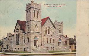 Street view, First Baptist Church,  Wichita, Kansas, PU-1909