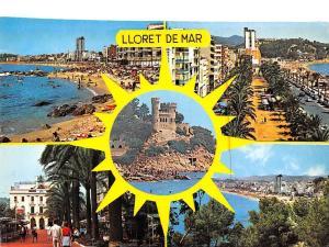 Spain Lloret de Mar Costa Brava Spiaggia Beach Promenade Castle Hotel Cars