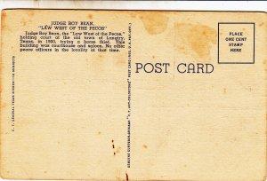 P1752 Texas TX Pecos Law West Judge Roy Bean Court House Old Vintage pc