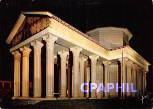 Postcard Modern Reconstitution of the temple Celtic-Roman Mars Mullo Night vi...