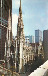 New York City~Saint Patricks Cathedral~Roman Catholic Church~1960s Postcard