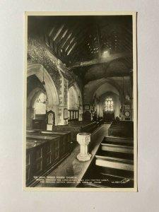 UNUSED VINTAGE REAL PHOTO POSTCARD - THE NAVE STOKE POGES CHURCH    (KK1022)
