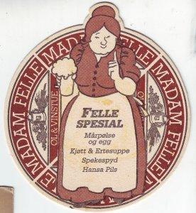 P1434 odd unused postcard madam felle og vinstue sas royal hotel bergen norway