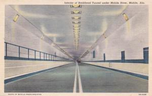 Alabama Mobile Interior Of Bankhead Tunnel Under Mobile River 1951 Curteich