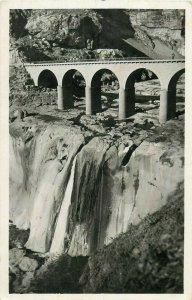 Algeria Constantine bridge pont des cascades photo postcard